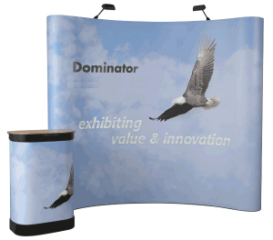 pop-up semirotund perete expozitional banner